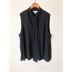 Michael Kors black tank top with tie